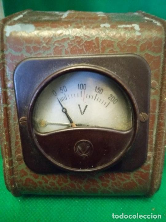 Antigüedades: Antiguo voltímetro medidor de voltaje - Foto 2 - 210478691