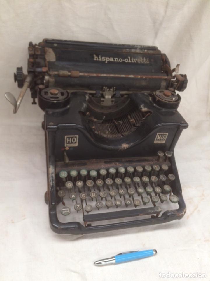 ANTIGUA MAQUINA ESCRIVIR HISPANO-OLIVETTI! (Antigüedades - Técnicas - Máquinas de Escribir Antiguas - Olivetti)