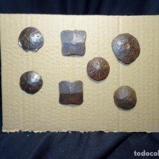 Antigüedades: LOTE DE 7 CLAVOS SIGLO XVII Y XVOOO. HIERRO FORJA, FORJADO.. Lote 210564888