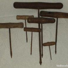 Antigüedades: LOTE 7 BARRENAS. Lote 210597443