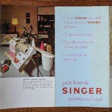 Antigüedades: ANUNCIO DE MAQUINA DE COSER SINGER DEL AÑO 1975, DOBLADO EN 4 PARTES. . VELL I BELL. Lote 210598933