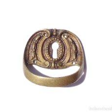 Antigüedades: TIRADOR DE BRONCE CON OJO DE CERRADURA. Lote 210611500