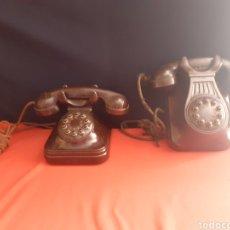 Teléfonos: 2 TELEFONOS MARCA STANDARD ELÉCTRICA CON BOTONES - MADRID AÑOS 50 FABRICADO EN ESPAÑA. Lote 210636975