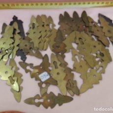 Antigüedades: EMBELLECEDORES EN LATÓN DE CERRADURAS. AÑOS 80. PARA REUTILIZAR.. Lote 210637482