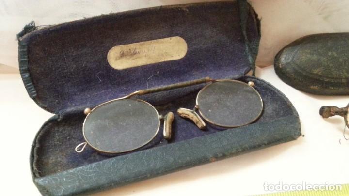 Antigüedades: Gafas centenarias. Conjunto de lentes de época. Hundreds of glasses. - Foto 2 - 210639393