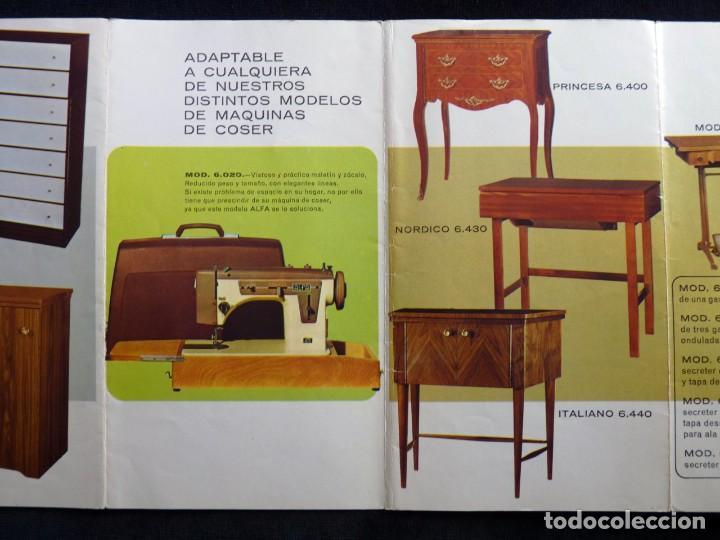 Antigüedades: ANTIGUO CATÁLOGO GENERAL DE MAQUINAS DE COSER ALFA. 1973 - Foto 4 - 210648185