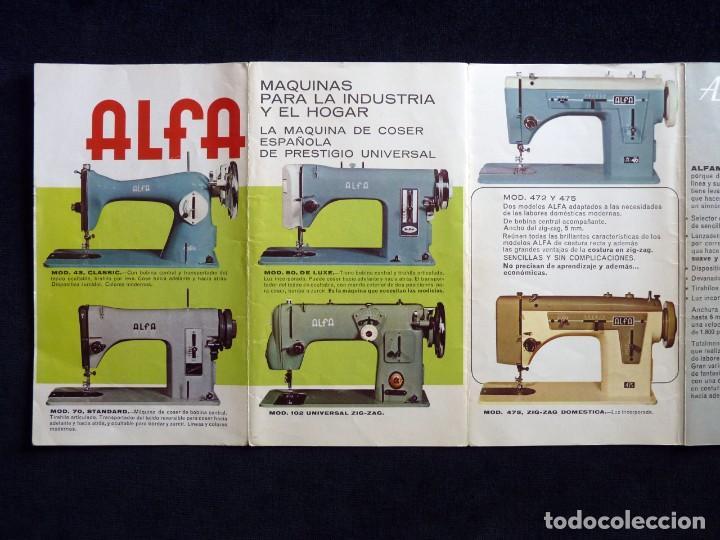 Antigüedades: ANTIGUO CATÁLOGO GENERAL DE MAQUINAS DE COSER ALFA. 1973 - Foto 5 - 210648185