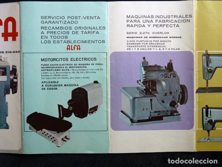 Antigüedades: ANTIGUO CATÁLOGO GENERAL DE MAQUINAS DE COSER ALFA. 1973 - Foto 6 - 210648185