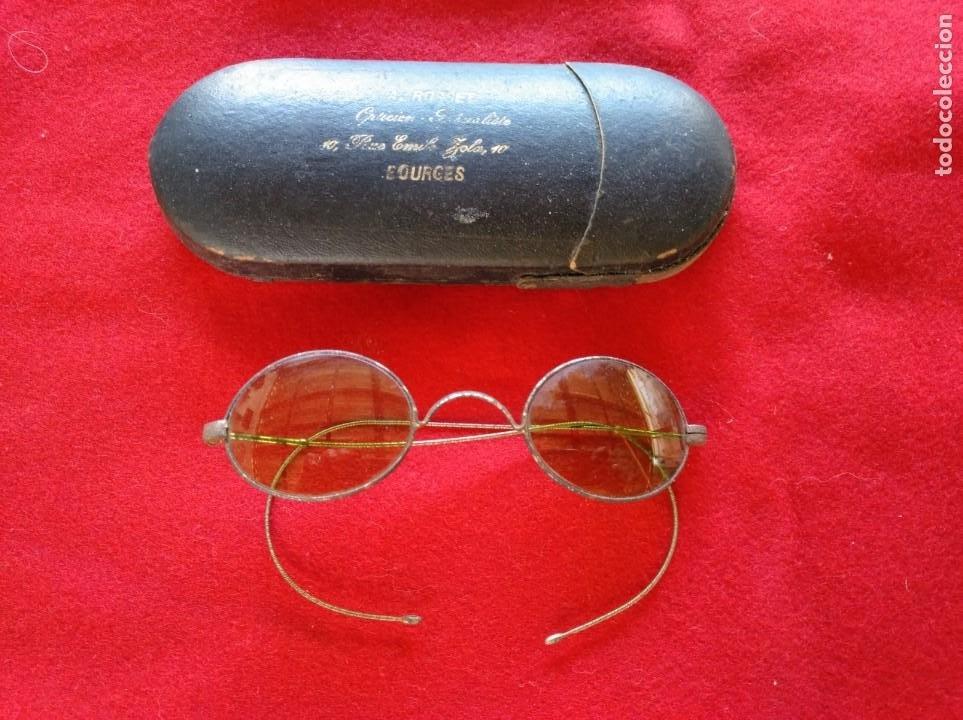 MUY ANTIGUAS GAFAS DE SOL. FINALES DEL SIGLO XIX. (Antigüedades - Técnicas - Instrumentos Ópticos - Gafas Antiguas)