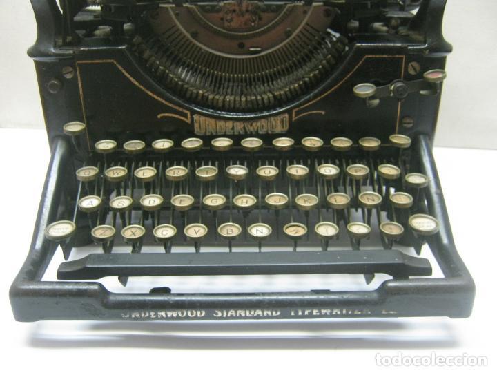 Antigüedades: Antigua maquina de escribir UNDERWOOD STANDAR c.1925 - Foto 2 - 210782951