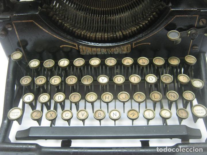 Antigüedades: Antigua maquina de escribir UNDERWOOD STANDAR c.1925 - Foto 3 - 210782951