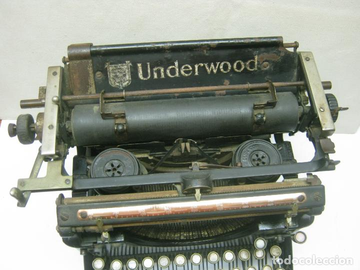 Antigüedades: Antigua maquina de escribir UNDERWOOD STANDAR c.1925 - Foto 8 - 210782951