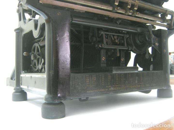 Antigüedades: Antigua maquina de escribir UNDERWOOD STANDAR c.1925 - Foto 10 - 210782951