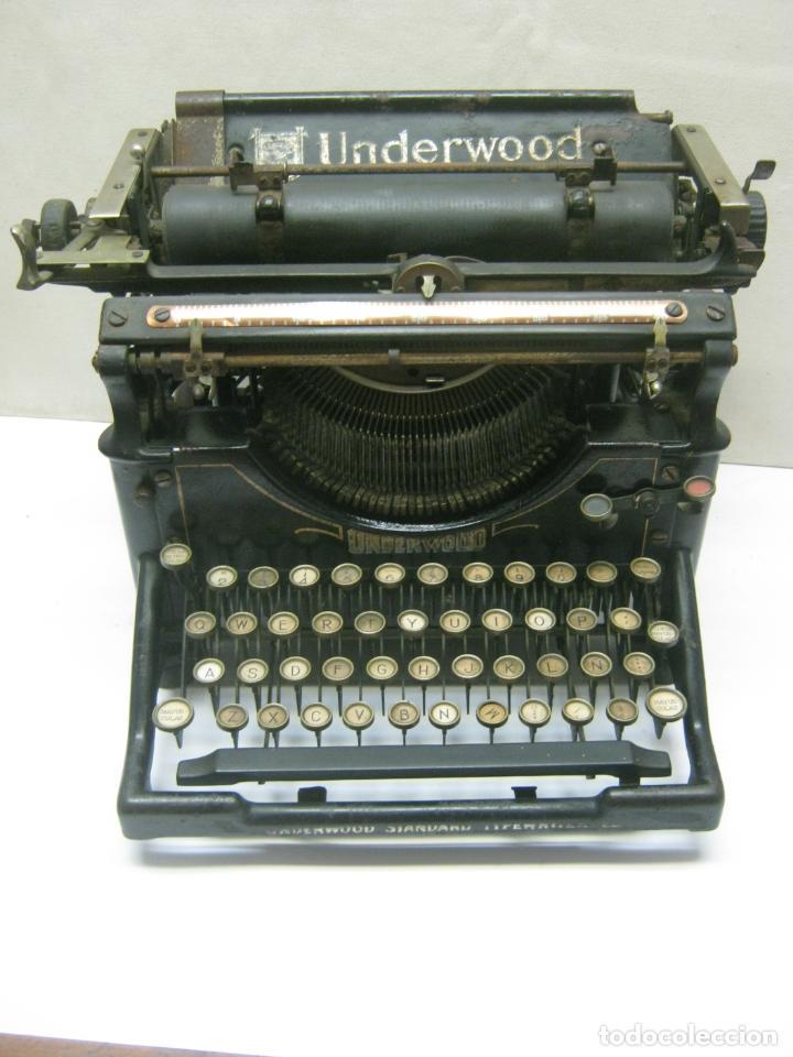 ANTIGUA MAQUINA DE ESCRIBIR UNDERWOOD STANDAR C.1925 (Antigüedades - Técnicas - Máquinas de Escribir Antiguas - Underwood)