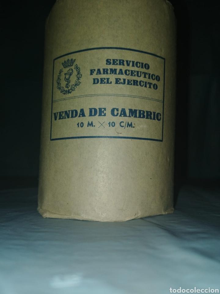 Antigüedades: VENDA DEL EJERCITO. SERVICIO FARMACÉUTICO DEL EJÉRCITO ESPAÑOL. VENDA DE CAMBRIC - Foto 2 - 210784262
