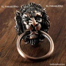 Antigüedades: CABEZA DE LEON PICAPORTE O LLAMADOR DE PUERTA - UNA VERDADERA PRECIOSIDAD DIFICIL DE ENCONTRAR. Lote 210799257