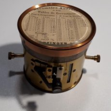 Antigüedades: BARÓMETRO ANEROIDE. HOTTINGER & CIE.. Lote 210965449