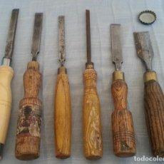 Antigüedades: FORMONES DE MAESTRO CARPINTERO. 6 HERRAMIENTAS. FORMÓN.. Lote 211258805