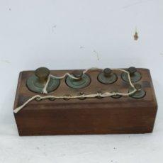 Antigüedades: TACOMA DE PESAS. Lote 211418820
