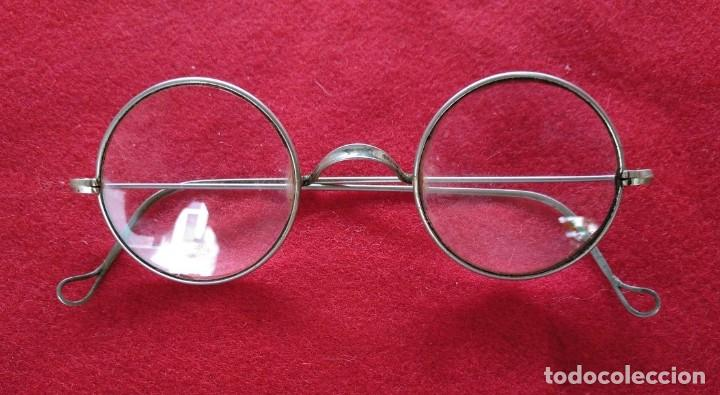GAFAS DE ACERO DE LOS AÑOS 20. (Antigüedades - Técnicas - Instrumentos Ópticos - Gafas Antiguas)