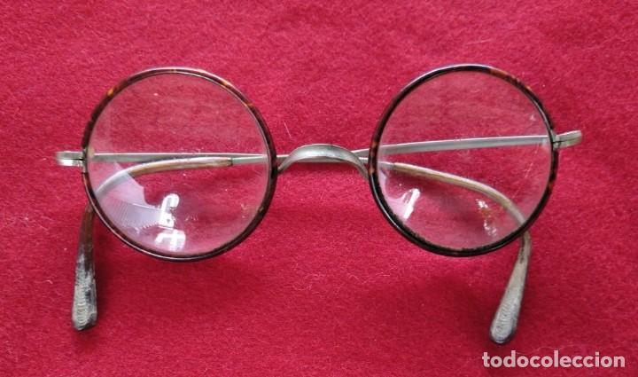 GAFAS COM MONTURA DE PASTA, AÑOS 30. (Antigüedades - Técnicas - Instrumentos Ópticos - Gafas Antiguas)