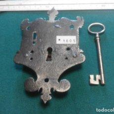 Antigüedades: ANTIGUA CERRADURA DE ARCON SIGLO XVII. Lote 211433022