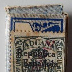 Antigüedades: FISCAL: ADUANA PERFUMERÍA CIRCULACIÓN CON SOBRECARGA REPÚBLICA ESPAÑOLA Y NACIONAL / HOJAS AFEITAR. Lote 211454426