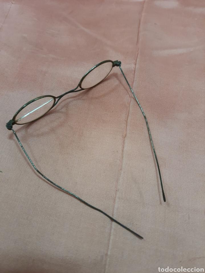Antigüedades: Gafas antiguas de montura de acero. Un cristal roto - Foto 2 - 211466097