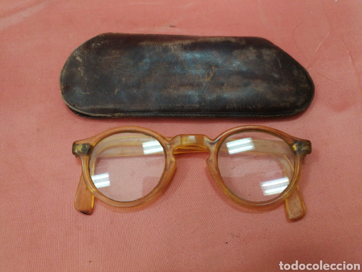 GAFAS ANTIGUAS DE PASTA. (Antigüedades - Técnicas - Instrumentos Ópticos - Gafas Antiguas)