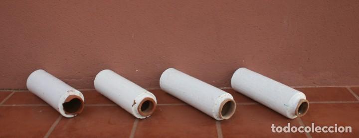 ANTIGUOS TUBOS CANAL BAJANTE DE AGUAS PLUVIALES DE BARRO HORNEADO CERAMICA GRUESA VITRIFICADA (Antigüedades - Técnicas - Varios)