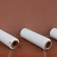 Antigüedades: ANTIGUOS TUBOS CANAL BAJANTE DE AGUAS PLUVIALES DE BARRO HORNEADO CERAMICA GRUESA VITRIFICADA. Lote 211614459