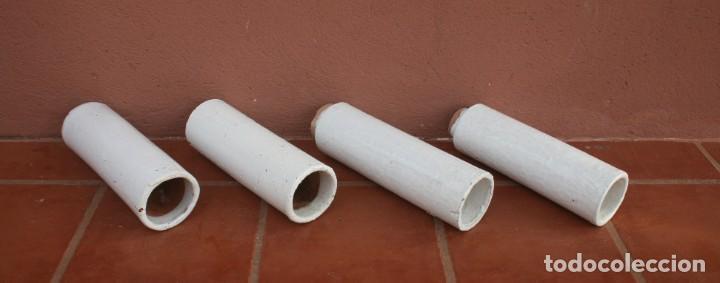 Antigüedades: ANTIGUOS TUBOS CANAL BAJANTE DE AGUAS PLUVIALES DE BARRO HORNEADO CERAMICA GRUESA VITRIFICADA - Foto 3 - 211614459