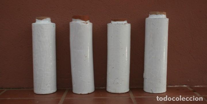 Antigüedades: ANTIGUOS TUBOS CANAL BAJANTE DE AGUAS PLUVIALES DE BARRO HORNEADO CERAMICA GRUESA VITRIFICADA - Foto 4 - 211614459