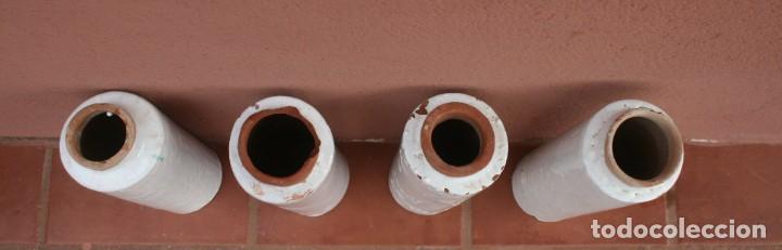 Antigüedades: ANTIGUOS TUBOS CANAL BAJANTE DE AGUAS PLUVIALES DE BARRO HORNEADO CERAMICA GRUESA VITRIFICADA - Foto 5 - 211614459