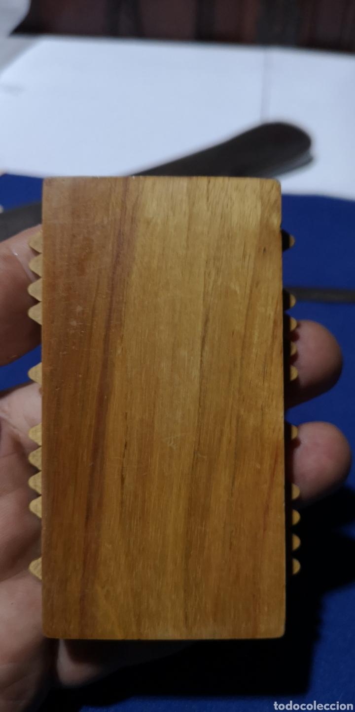 Antigüedades: Antiguo contador ábaco realizado en cerezo y Olivo - Foto 2 - 211618345