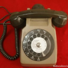 Teléfonos: ANTIGUO TELEFONO DIAL NUMERICO PTT SO CO TEL S63 MARRON FRANCIA FUNCIONA. Lote 211744149