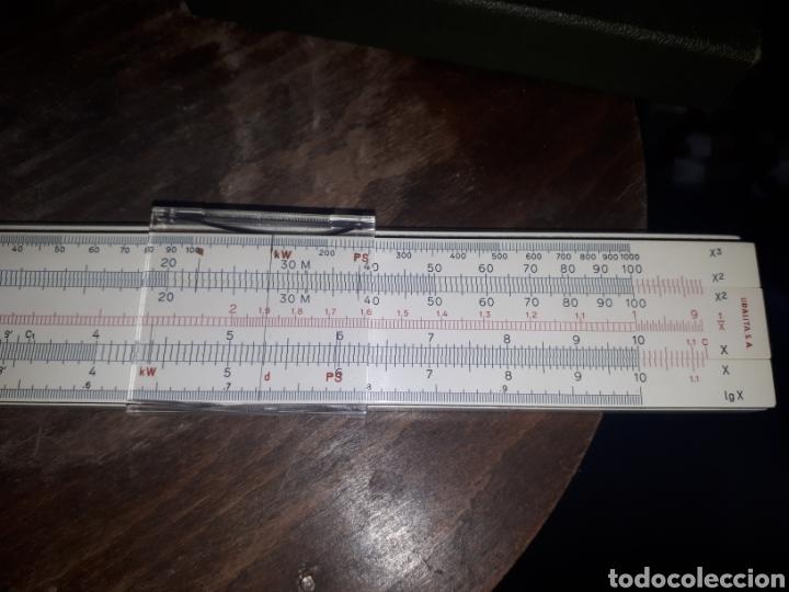Antigüedades: Regla calculo 1/87 FABER CASTELL OBSEQUIO PUBLICITARIO BODAS DE ORO URALITA S.A. 1910 - 1960 - Foto 3 - 211770173