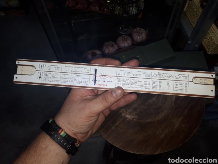 Antigüedades: Regla calculo 1/87 FABER CASTELL OBSEQUIO PUBLICITARIO BODAS DE ORO URALITA S.A. 1910 - 1960 - Foto 5 - 211770173