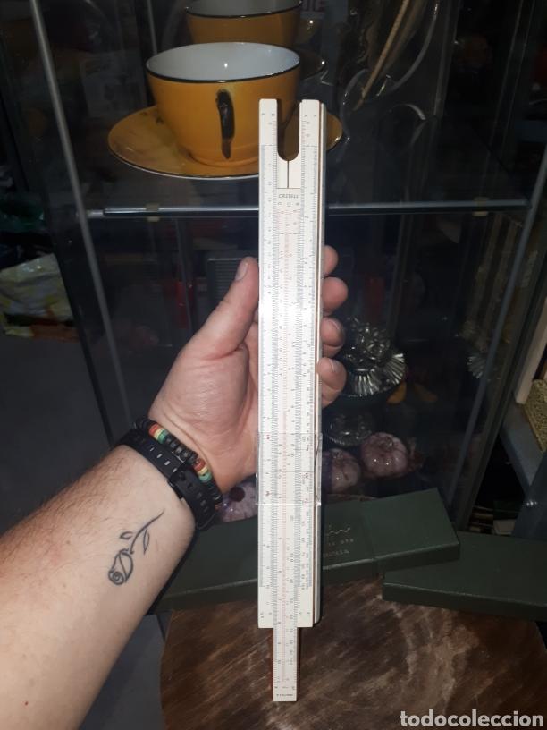 Antigüedades: Regla calculo 1/87 FABER CASTELL OBSEQUIO PUBLICITARIO BODAS DE ORO URALITA S.A. 1910 - 1960 - Foto 8 - 211770173