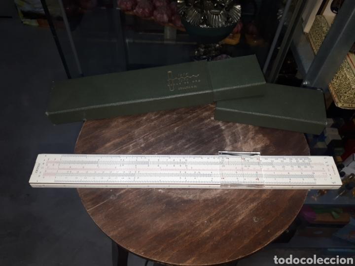 REGLA CALCULO 1/87 FABER CASTELL OBSEQUIO PUBLICITARIO BODAS DE ORO URALITA S.A. 1910 - 1960 (Antigüedades - Técnicas - Aparatos de Cálculo - Reglas de Cálculo Antiguas)