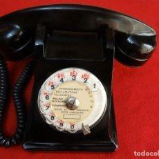 Teléfonos: ANTIGUO TELEFONO DE BAQUELITA PTT FRANCES IMPECABLE Y FUNCIONA. Lote 211793700