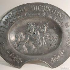 Antigüedades: ANTIGUA BACÍA DE BARBERO LE MELANOGENE DICQUEMARE DE ROUEN. Lote 211861800