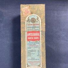 Antigüedades: ANTIGUO ANTICATARRAL. SOLUCION-GREOSOTADA. GARCIA SUAREZ. TARRO LLENO. VER FOTOS. Lote 212076797