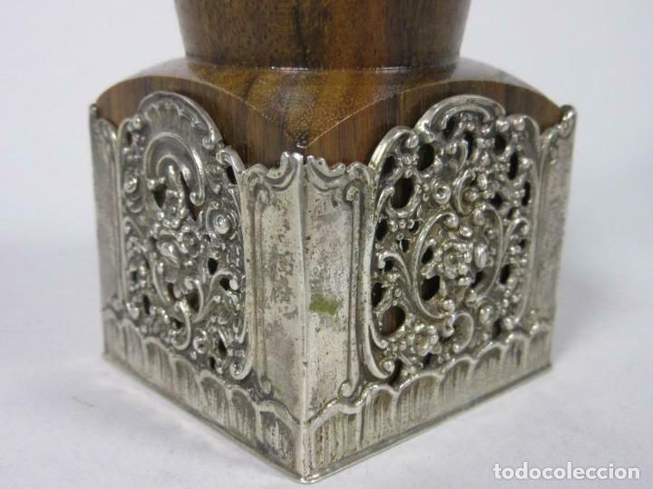 Antigüedades: MUY EXCLUSIVO ANTIGUO MOLINILLO EN PLATA DE LEY 835 PIEZA RARISIMA DE MUSEO - Foto 3 - 212128965