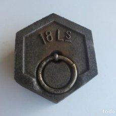 Antigüedades: PESA DE 18 LIBRAS. Lote 212165630