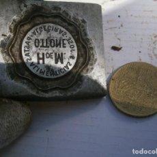 Antigüedades: MOLDE PUBLICITARIO DE IMPRENTA ÚNICO. AÑOS: 30/40. H DE M ATTONE PASTAS ALIMENTICIAS. Lote 212166152