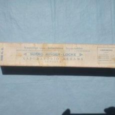 Antigüedades: AMPOLLA DE SUERO 200CC RINGER-LOCKER SIN ABRIR. Lote 212166668