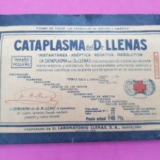 Antigüedades: CATAPLASMA DOCTOR LLENAS. Lote 212170048
