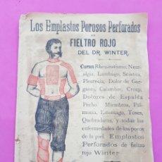 Antigüedades: EMPLASTO POROSO PERFORADO DR WINTER.. Lote 212170251