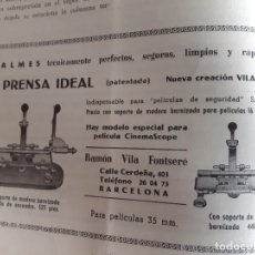 Antigüedades: EMPALMADORA DE 35MM RAMON VILA, MODELO IDEAL. Lote 212175765